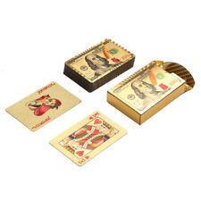 24K Gold Poker Benjamin Design Playing Cards Plastic Waterproof poker Deck Game