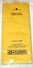 American Greetings Yellow Tissue Paper    6 Sheets