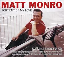 MATT MONRO - PORTRAIT OF MY LOVE - 52 ORIGINAL RECORDINGS (NEW SEALED 2CD)