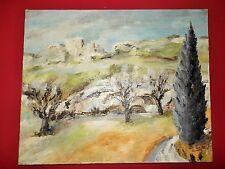 Tableau par GEORGES ACCARIE Peinture de Provence H.S.T - Le Cyprès aux Baux