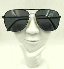 Vintage Safilo Sporting Black Metal Aviator Sunglasses Italy Frames Only