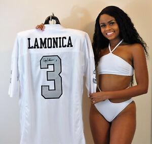Daryle Lamonica Signed White Jersey - Oakland Raiders Legend - Buy Direct & Save