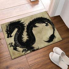 Kitchen Bath Bathroom Shower Floor Home Door Mat Rug Non-Slip Chinese dragon