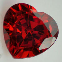 CZ Heart Shaped Loose Stones  4 - 5mm White Red Blue Sapphire Green Best Quality