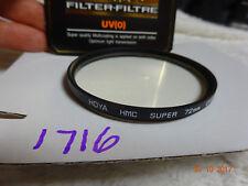Hoya UV de 72 mm (0) filtro HMC Super-Excelentes Condiciones Seminuevo/