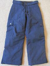 Girl's Lands End WaterProof Snowboard/Ski/Winter Pants Size 10 Denim/Jean Blue