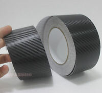 Multi-function - 2inch Wide Black 3D Carbon Fiber Vinyl Tape Wrap Sticker - CF