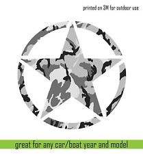 "3m Print vinyl sticker JEEP Army Star Hood Car Window decal Camouflage 32"" cut"