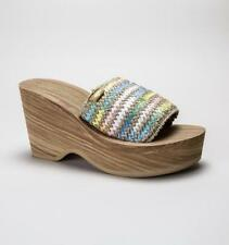 Striped Textile Wedge Sandals & Beach Shoes for Women