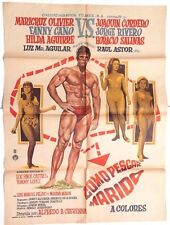 Vtg Mexican Movie Poster 1967 Como Pescar Marido (Maricruz Olivier)