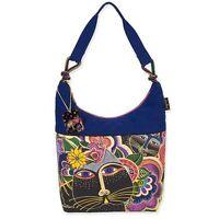 Carlotta's Cats Laurel Burch Medium Canvas Scoop Purse Tote Bag Handbag