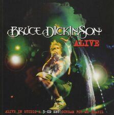 BRUCE DICKINSON - Alive 3 CD Set In Studio A / Scream For Me Brazil Original