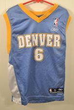Reebok Denver Nuggets Jersey Kenyon Martin NBA Basketball Youth Small Light Blue