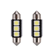 2x Error Free 6418 C5W White 36MM Festoon LED License Plate Light Bulbs 3SMD