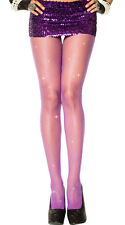 PURPLE - Silver GLITTER FISHNET PANTYHOSE/TIGHTS/CROSSDRESSER/ DRAG QUEEN