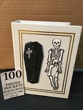 100 Picture Book Bound Photo Album ( GOTHIC/ MOVING SKELETON ).