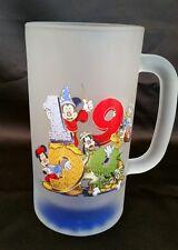 Mickey Minnie Mouse Magic Kingdom 1999 Glass Mug Beer Stein Donald Goofy Pluto