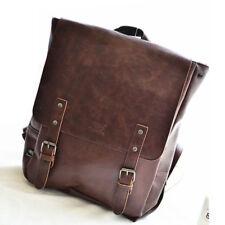 NEW SCHOOL BOOKBAG PU LEATHER BACKPACK TRAVEL CASUAL SHOULDER BAG LAPTOP brown