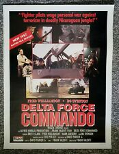 Delta Force Commando 1988 Brett Baxter Fred Williamson Svenson Video Poster
