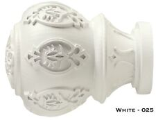"White Lacey Finials - Kirsch Wood Trends - 1 3/8""! Free Shipping!"