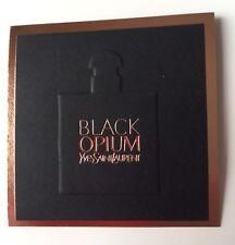 Jolie Carte Parfumée Black Opium Gold De Yves Saint Laurent