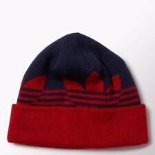 Adidas Originals Beanie Switch Stripe Fold Knit Ski Hat Unisex Navy & Red