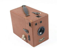 "Coronet ""Portrait Lens"" Box Camera - 1930's - Working BROWN."