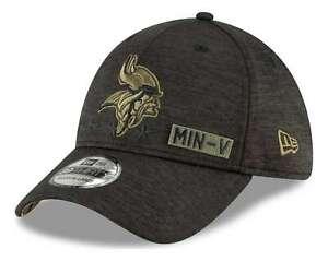 New Era - NFL Minnesota Vikings 2020 Salute to Service 39Thirty Stretch Cap - Gr