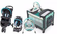 Baby Stroller Car Seat Nursery Playard Crib Travel System Automatic Bouncer Set