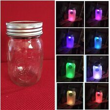 Solar Mason Jar LED Lid Light ~ Color Changing ~ Patio Lights DIY