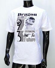 Dragon Skateboard Company Alliance White Atletic mens T shirt size Large