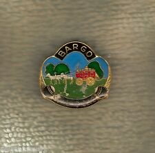 BARGO   BOWLING CLUB LAPEL BADGE, REPAIRED BACK, STAGE COACH