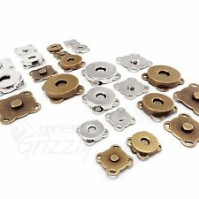 Sewn on Magnetic snaps clasps fastening purses handbags craft buttons 18 or 14mm