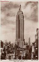 Postcard RPPC Empire State Building New York City NYC