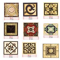 Vintage Floor Sticker Tile Decal Bathroom Shower Tile Wall Stickers Decals 10Pcs