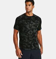 Under Armour Men's UA Tech 2.0 Camo Short Sleeve 1361464-310 Baroque Green/Black