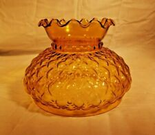 "Westinghouse Yellow Amber 6"" Student Quilted Globe Glass Shade 84111 NEW WOW!"