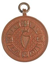 1908 Ireland IRISH HARP PRIZE. Bronze 32mm