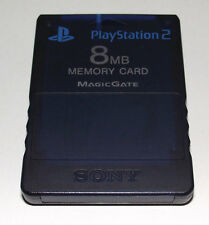Genuine Midnight Blue Magic Gate PS2 Memory Card Playstation 2 8MB Sony