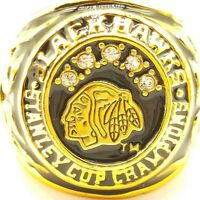 1960/1961 Chicago Blackhawks Stanley Cup 18k Gold Plated Championship Ring