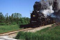 PERE MARQUETTE Railroad Train Steam Locomotive 1225 Original 1989 Photo Slide 6