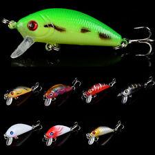 5cm/4g mini Crank Bass Fishing Lures Bait  Minnow Crankbaits Hook Wobbler