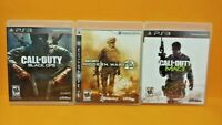 PS3 Sony Playstation 3 GAME Lot - Call of Duty Modern Warfare 2 + 3 + Black Ops