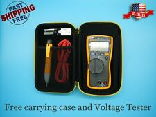 Fluke 113 Utility True Rms Digital Multimeter Free Carrying Case