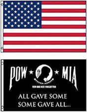 3x5 USA American Flag & POW MIA All Gave Some Flag 3' x 5' WHOLESALE LOT Flags