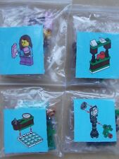 NEW LEGO CITY CHRISTMAS SCENE- GIRL'S WINTER SKATING TRIP OUTDOOR SKATING RINK