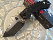 Kershaw Shuffle II Dark Black Wash Tanto Pocket Knife Cap Lifter 8750TBLKBW New