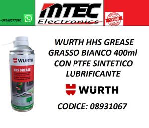 WURTH HHS GREASE GRASSO BIANCO 400ml CON PTFE SINTETICO LUBRIFICANTE