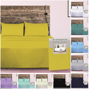 400 Thread Count 100% Egyptian Cotton Flat Sheet Single Small Double King