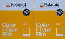 2x Polaroid I-type film color neuf neuf dans sa boîte 2x 8 images instantanés instantanés